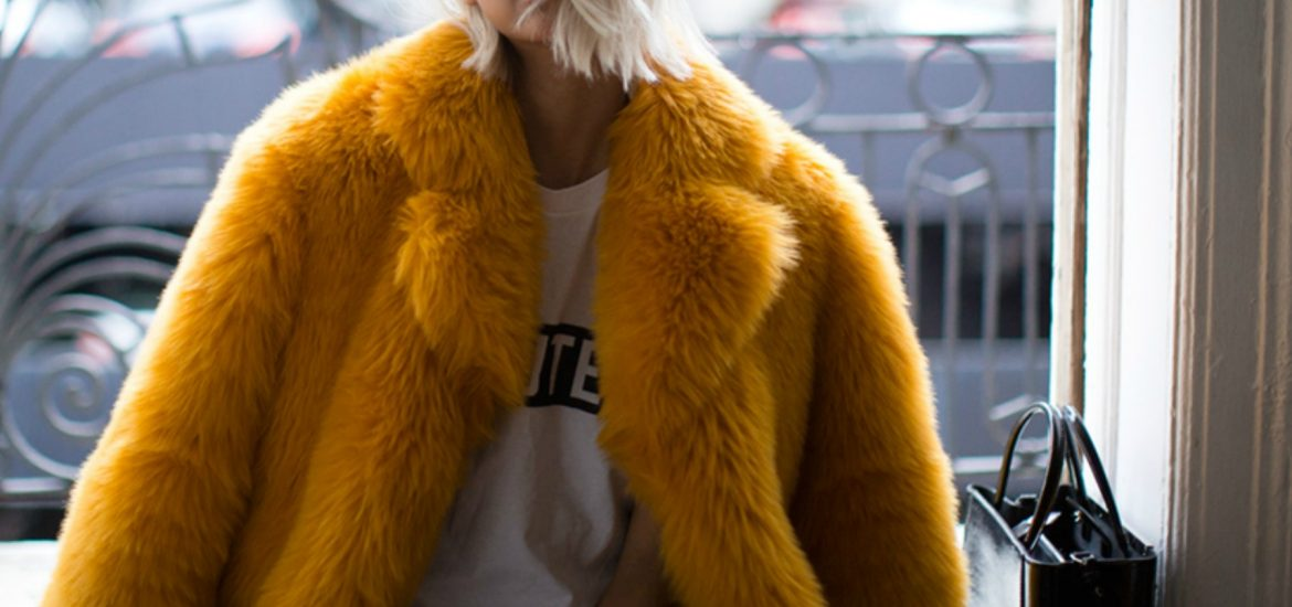 colorful faux fur fashion
